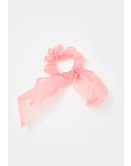Blush Can I Call You Bow Scrunchie