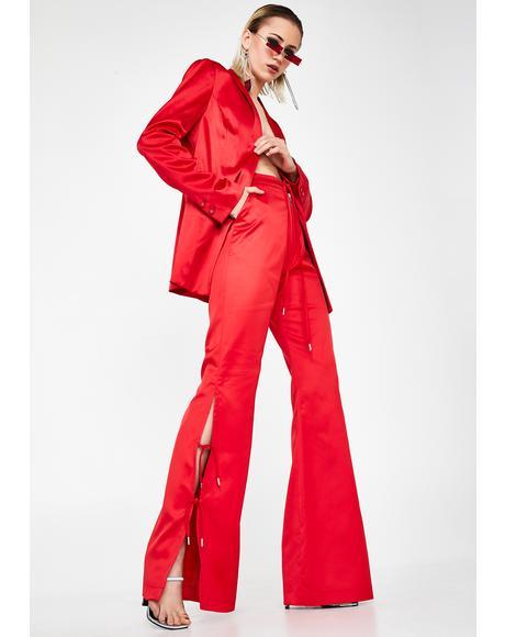 Furea Satin High-Rise Trousers