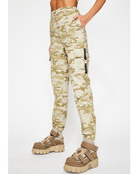 Tan Battle Rattle Cargo Pants