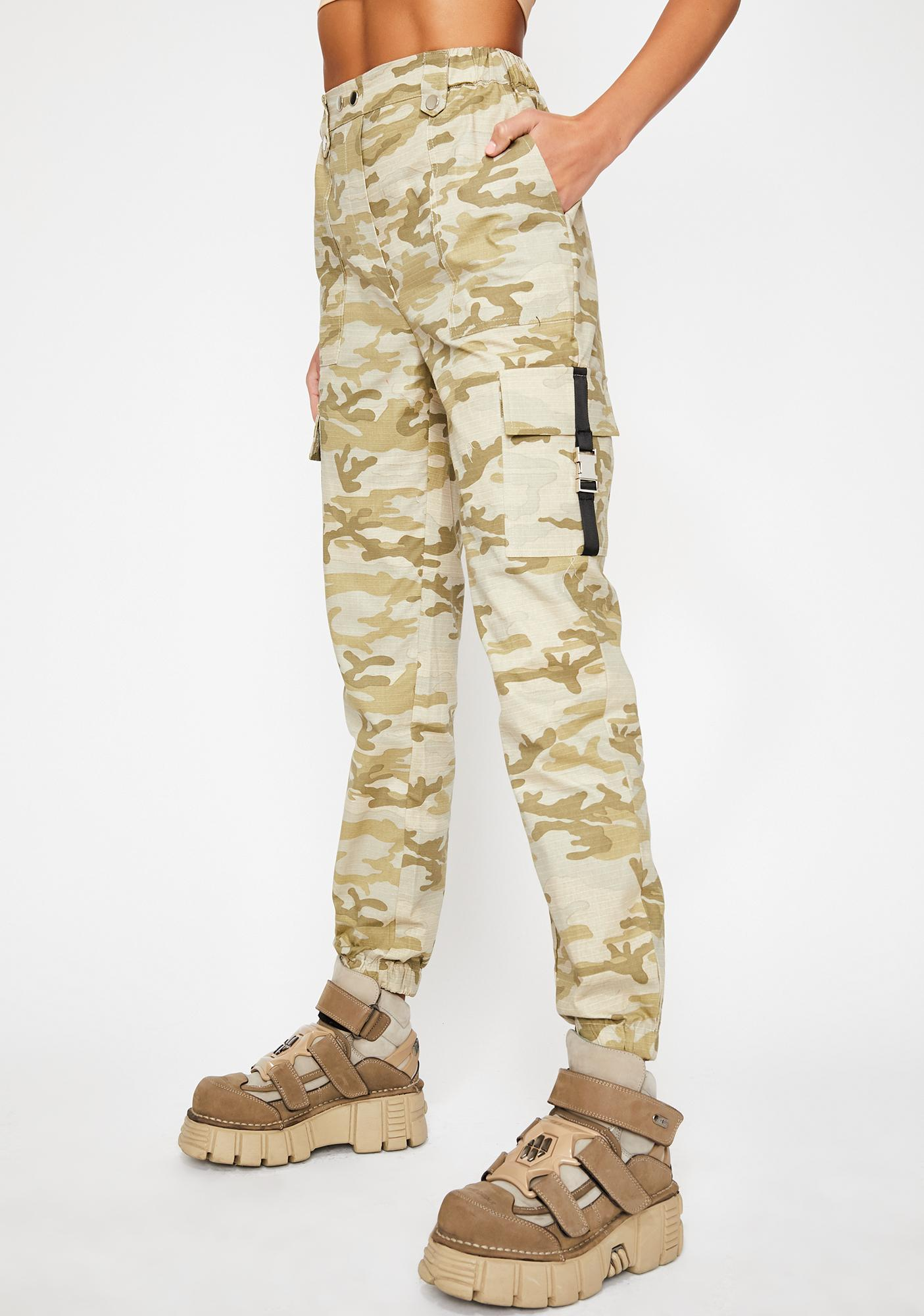 Tan Battle Rattle Cargo Pants