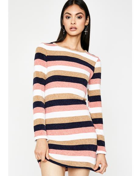 Navy Embrace Me Sweater Dress