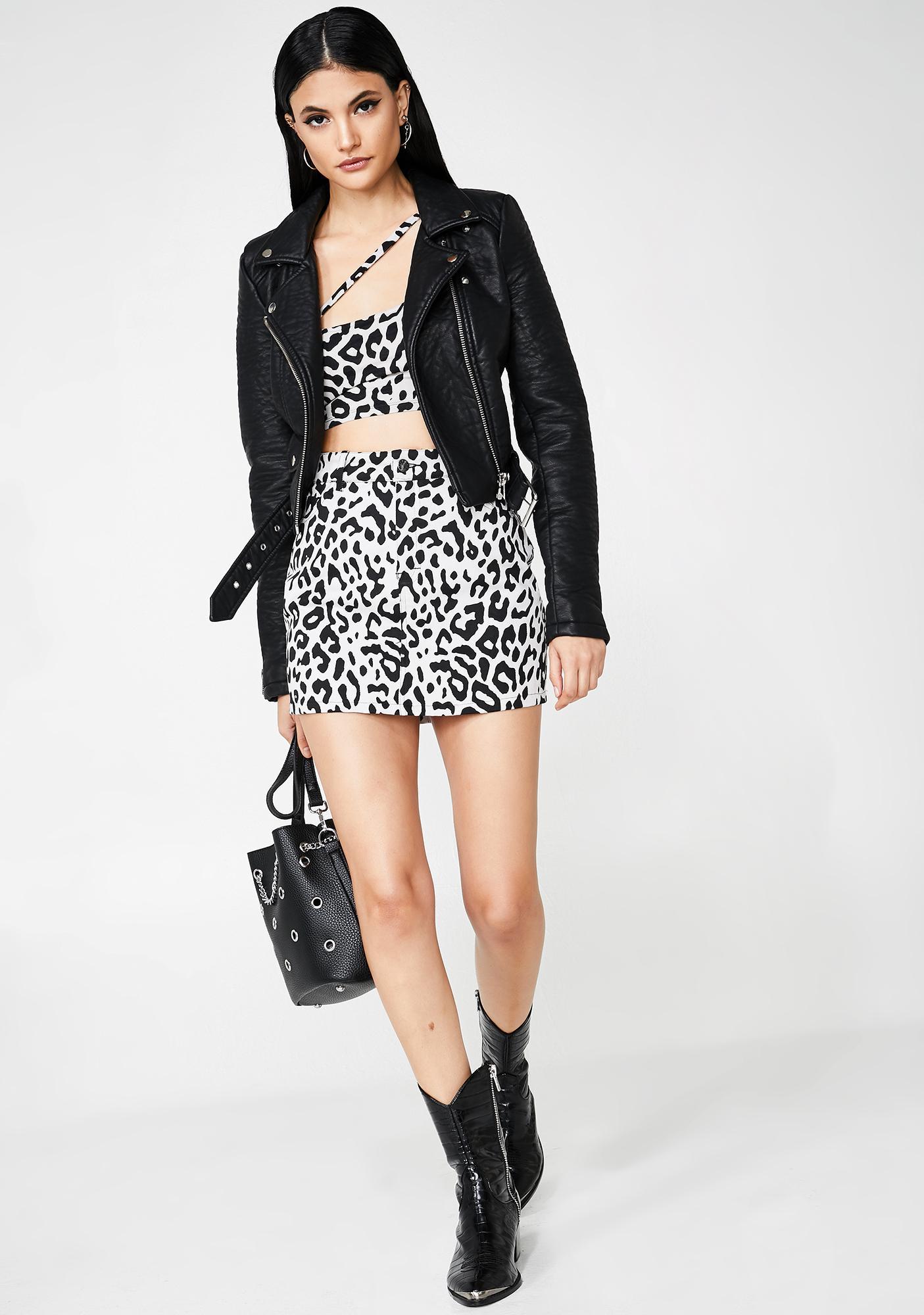 Motel Fierce Mini Broomy Skirt