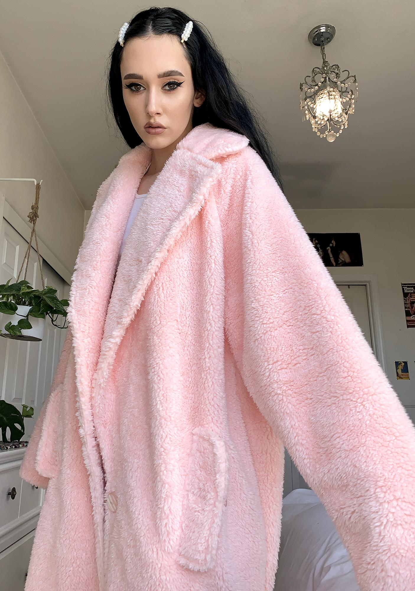 Selkie Teddy Bear Faux Fur Coat