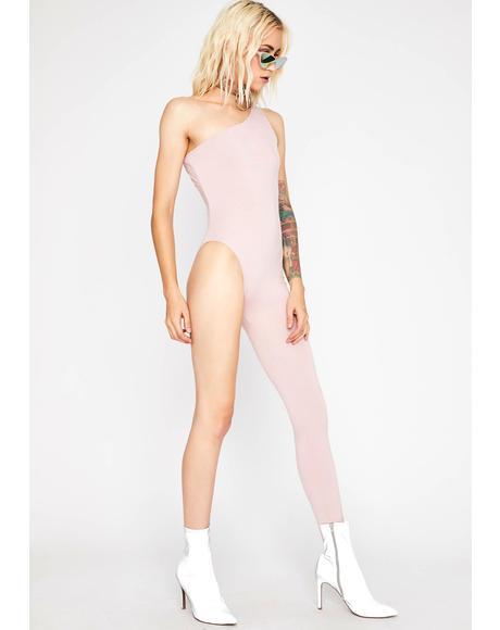 Blushing Shadow Sleuth Asymmetrical Jumpsuit