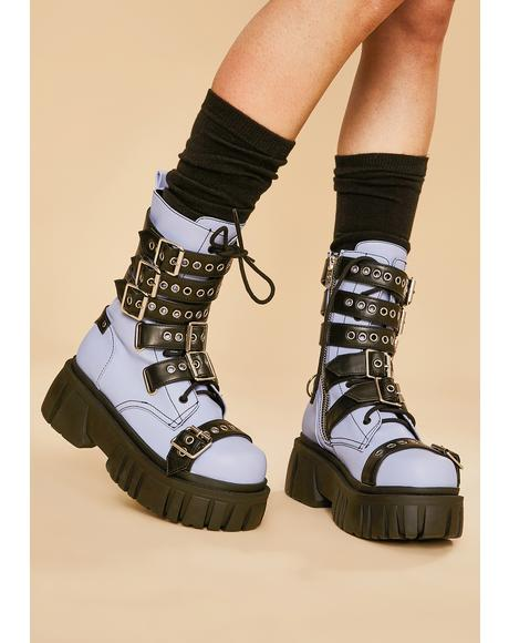 Heavy Metal Heaven Buckle Boots