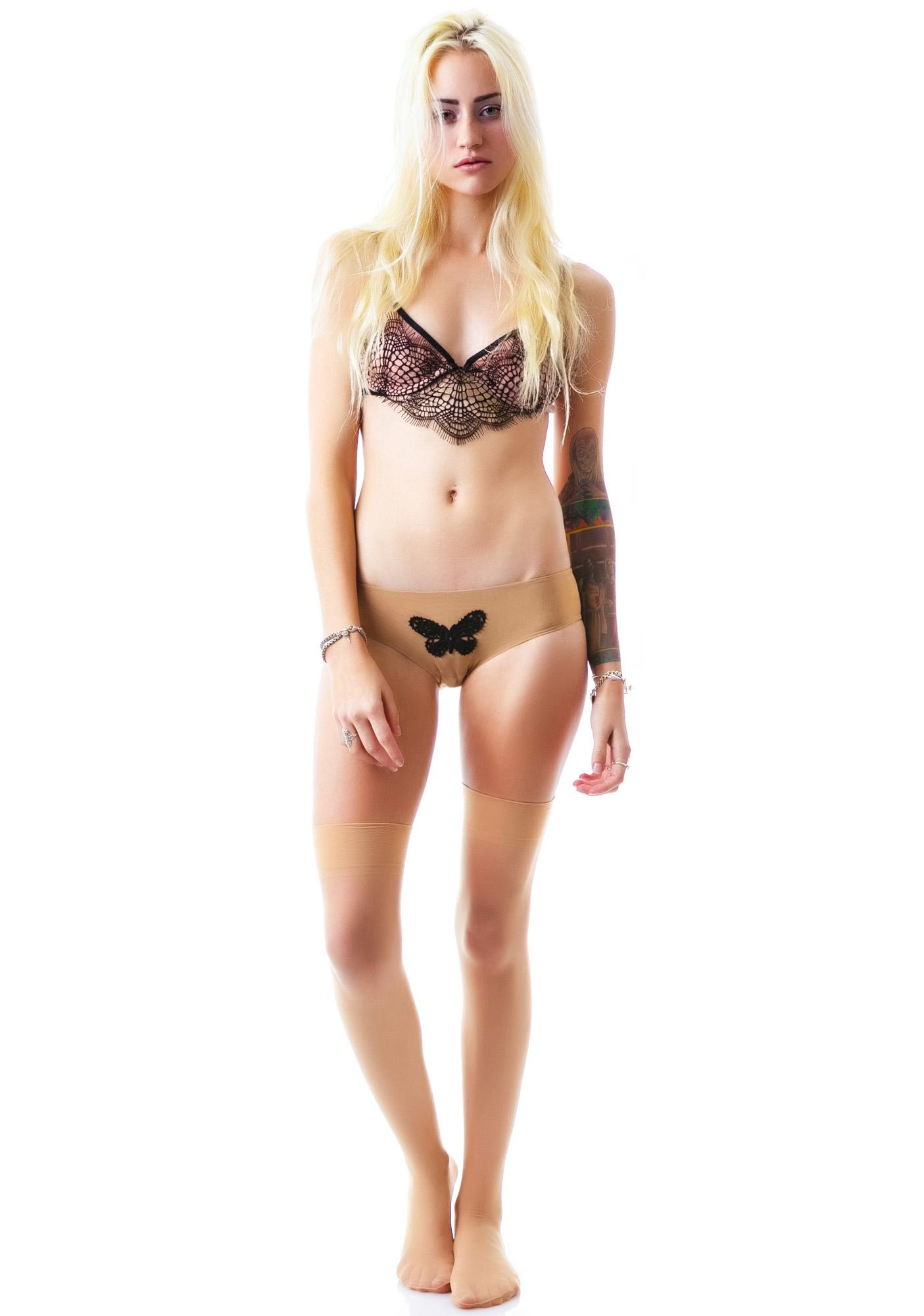 For Love & Lemons Butterfly Kiss Cheeky Panty