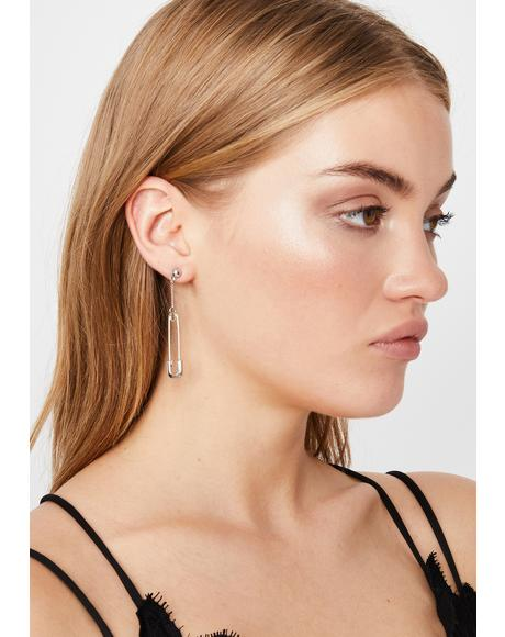 There's No Point Safety Pin Earrings