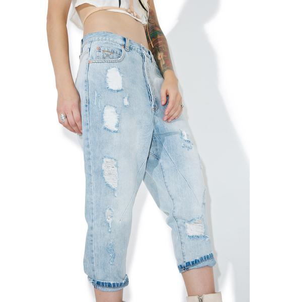 The Laundry Room Low Rider Cropped Jeans