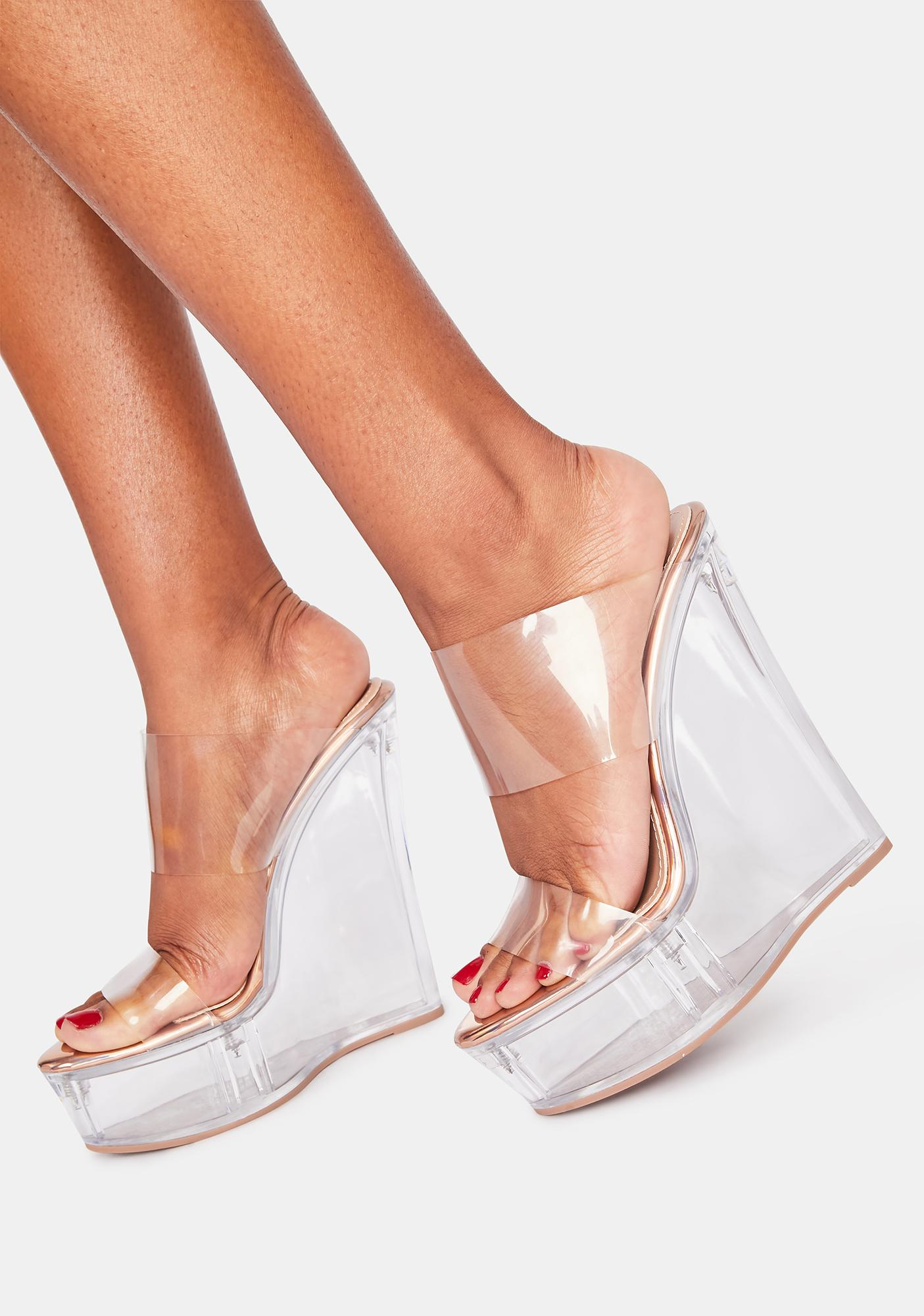Lemon Drop by Privileged Poper Clear Wedges