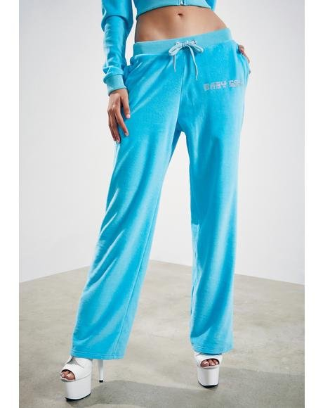 Kiss Me More Velour Track Pants