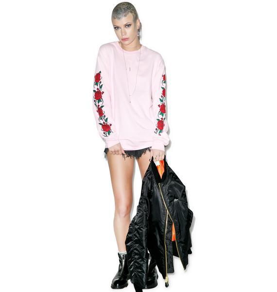Danielle Guizio Smell The Roses Long Sleeve Tee