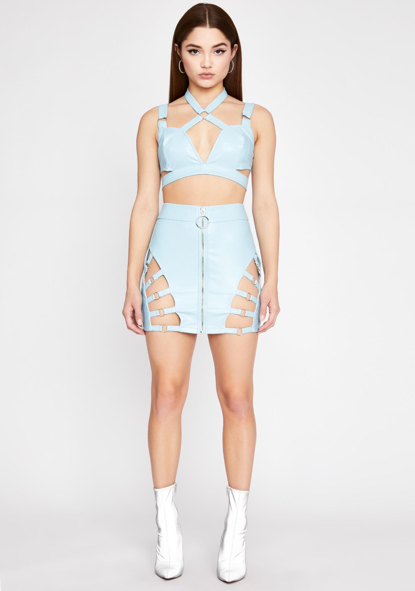 Sky Iconic Kinks Cut-Out Skirt