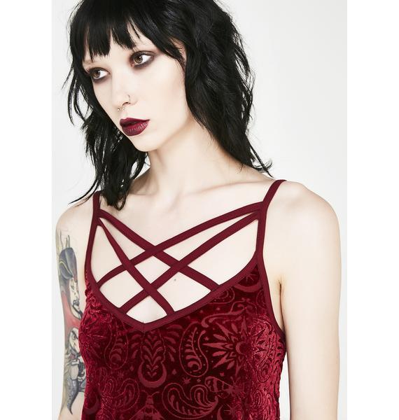 Killstar Thea Burnout Velvet Vest