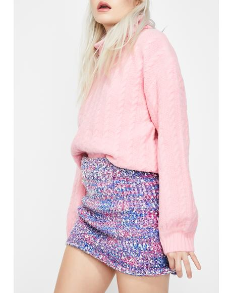 Confetti Cake Sweater Skirt