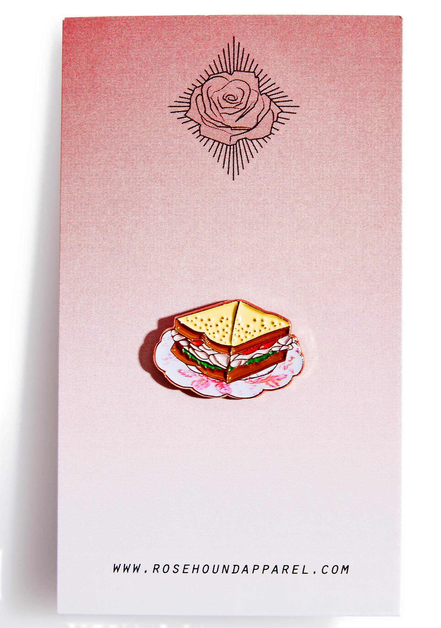 Rosehound Apparel Turkey Sandwich Enamel Pin