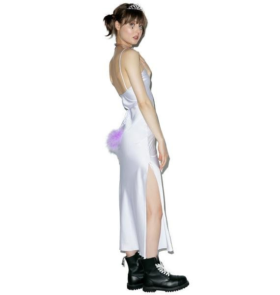 Dyspnea Lilac Gold Digger Long Slip Dress