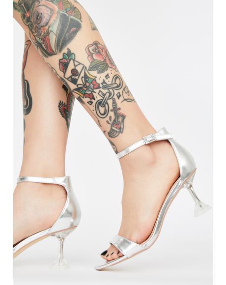 Platinum Sassy Love Peep Toe Heels
