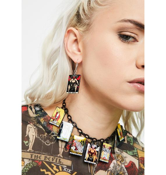 Sly N' Sinister Tarot Card Earrings