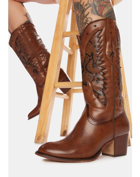 Whiskey Ride 'Til Dawn Cowboy Boots