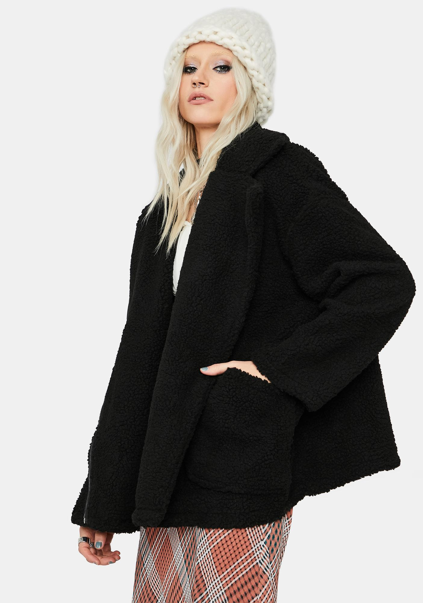 Teen Angst Oversized Faux Fur Jacket