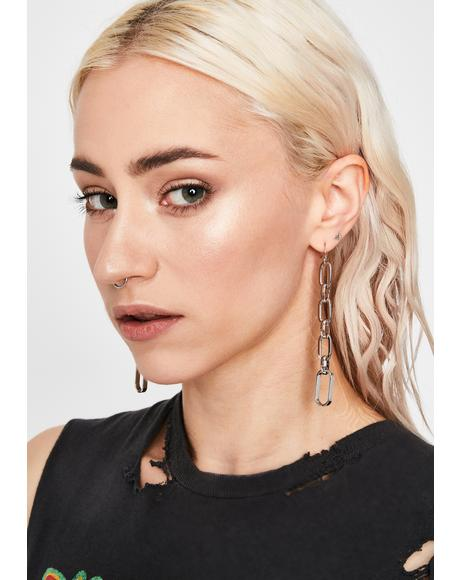 Broken Times Chain Earrings