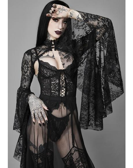 Dusk Before Dawn Lace Shrug