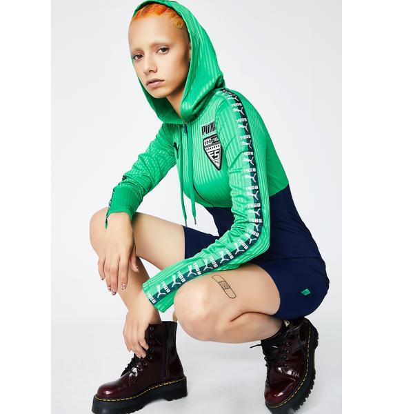 PUMA FENTY PUMA By Rihanna Hooded Zip Front Leotard