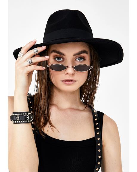 Dark Fussy Hussy Wide Brim Hat