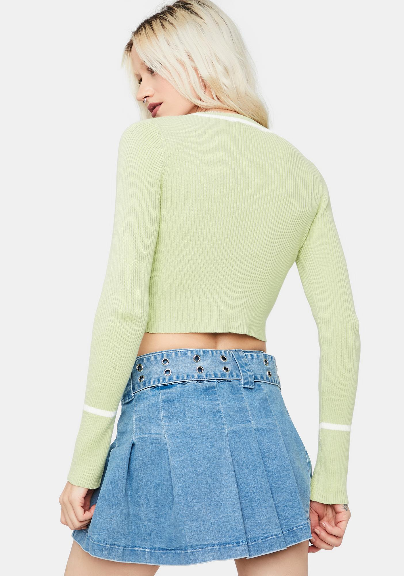 Kiwi Pardon Me Ribbed Long Sleeve Top