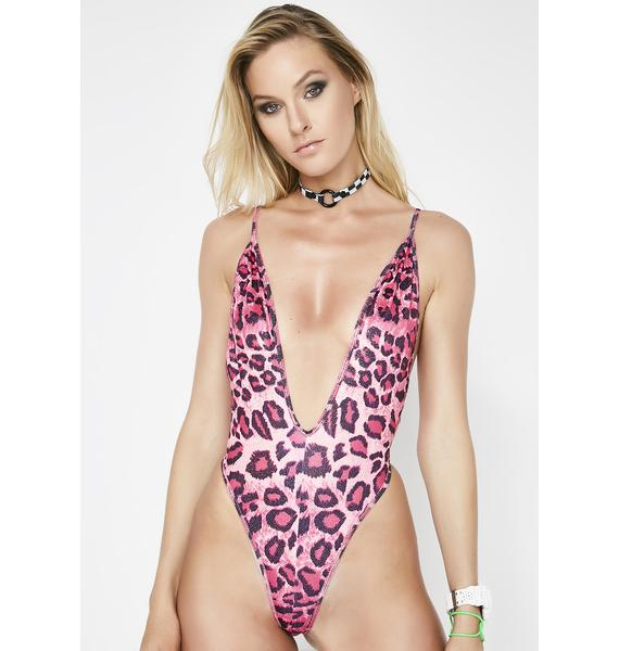 Huntin' You Down Plunge Bodysuit