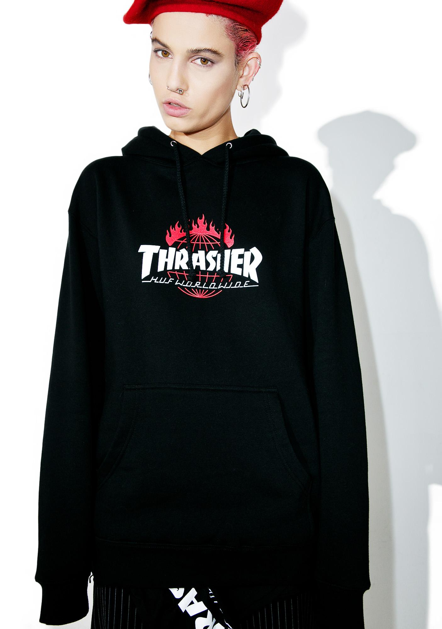 Huf X Thrasher Tour De Stoops Hoodie Dolls Kill