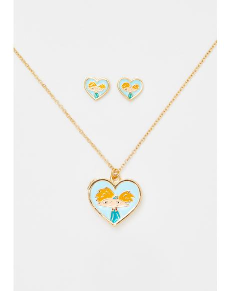 Hey Kiddo Necklace N Earring Set