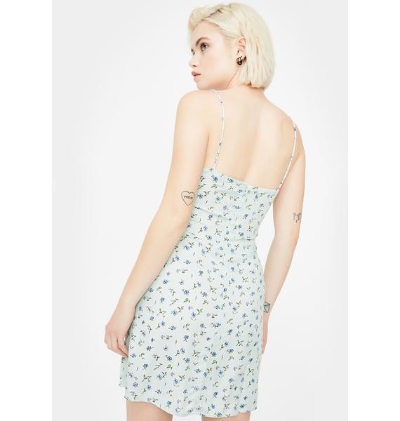 Motel Green Pretty Petal Kumala Mini Dress