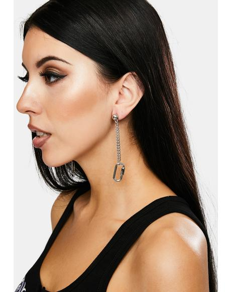 True To Yourself Carabiner Earrings