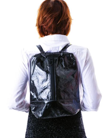 Distressed Hologram Backpack