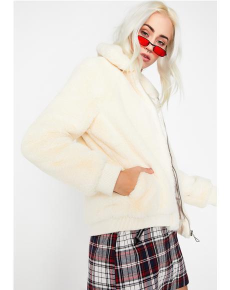 Icy Fur Ball Babe Jacket