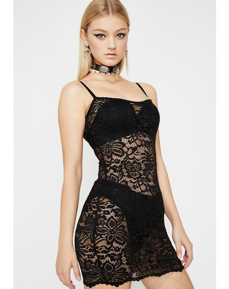 Hot Pursuit Lace Dress
