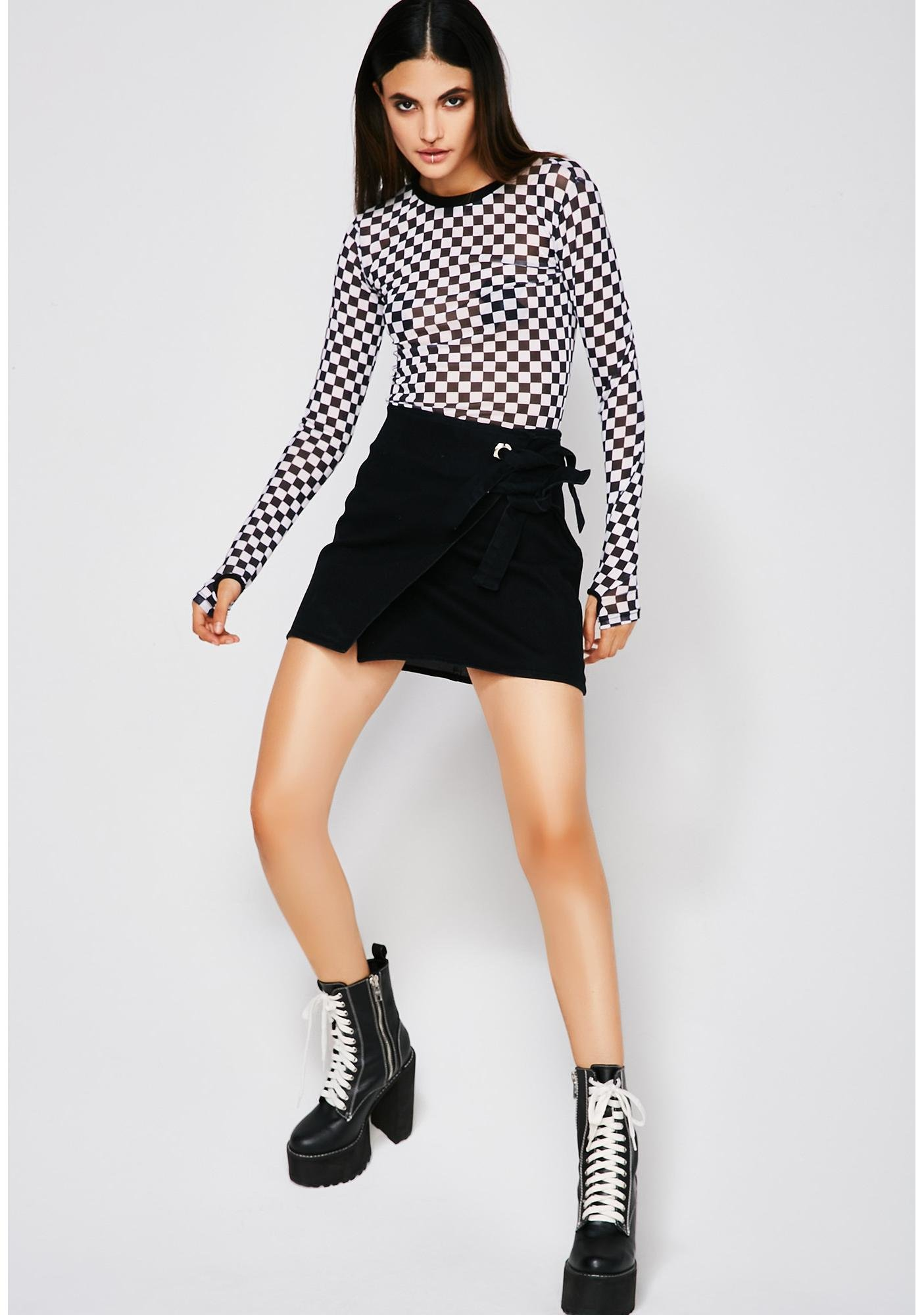 Finders Keepers Tie Skirt