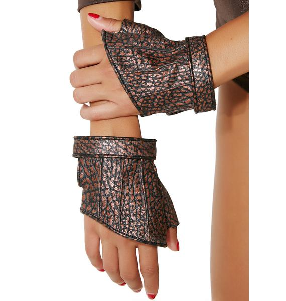 Five and Diamond Phoenix Cropped Gloves