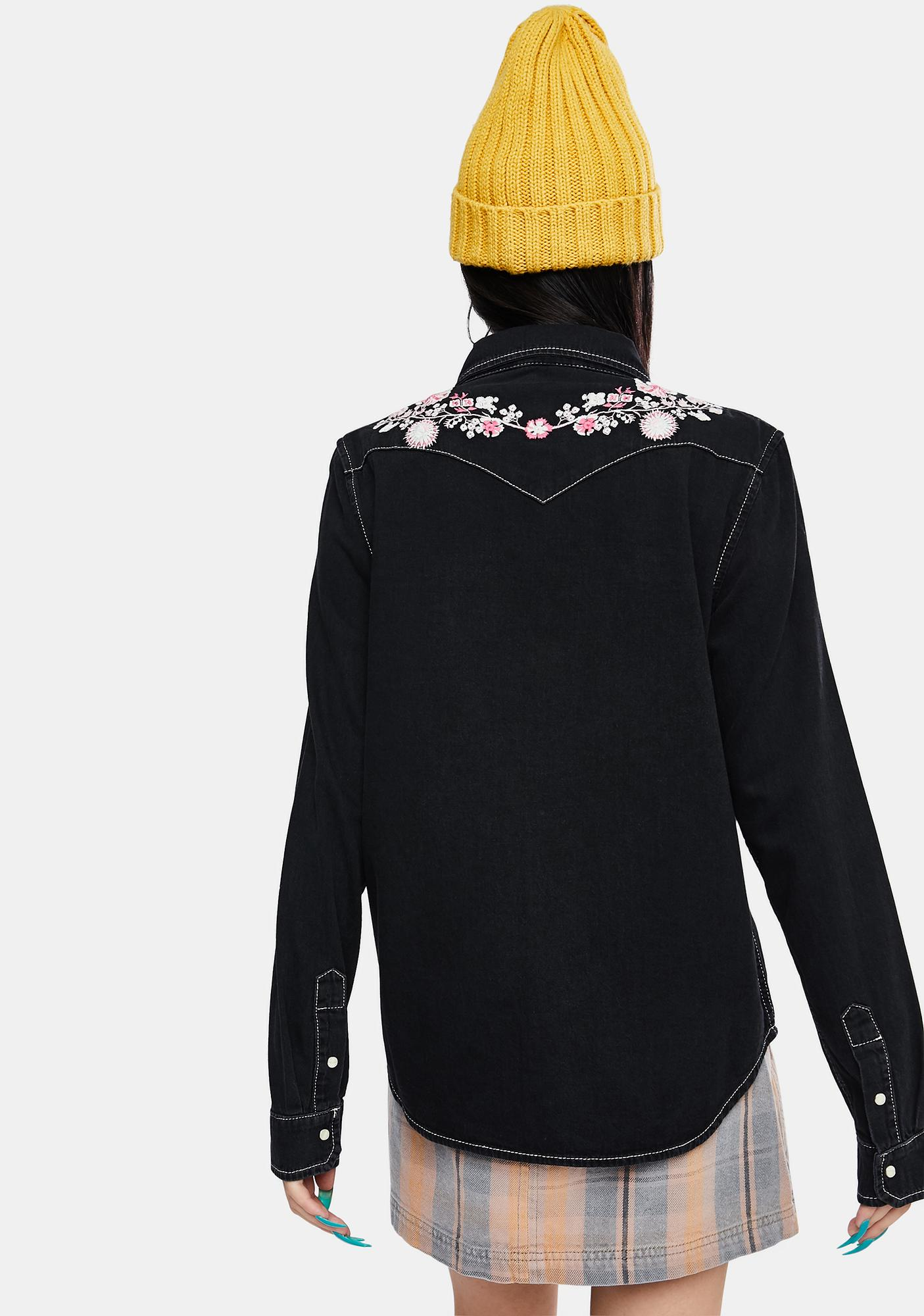 BDG Grace Western Embroidered Shirt