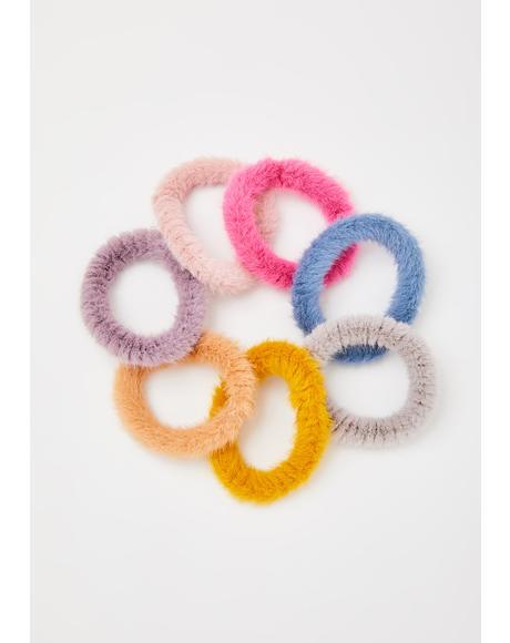 Warm Fuzzy Scrunchie Set