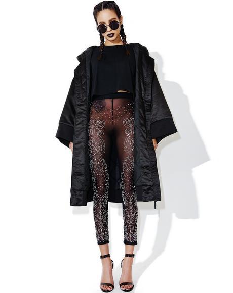Sequin Mesh Leggings