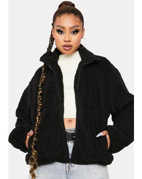 Luna Catch My Breath Oversized Teddy Jacket