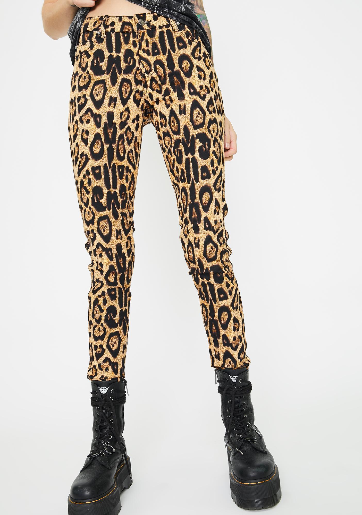 Tripp NYC Leopard T-Back Skinny Jeans