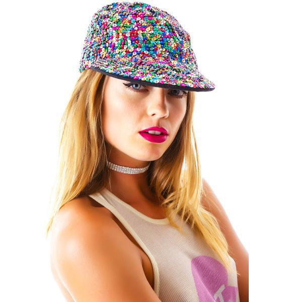 So Glam Sequin Cap