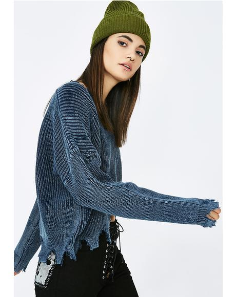 Rough Night Knit Sweater