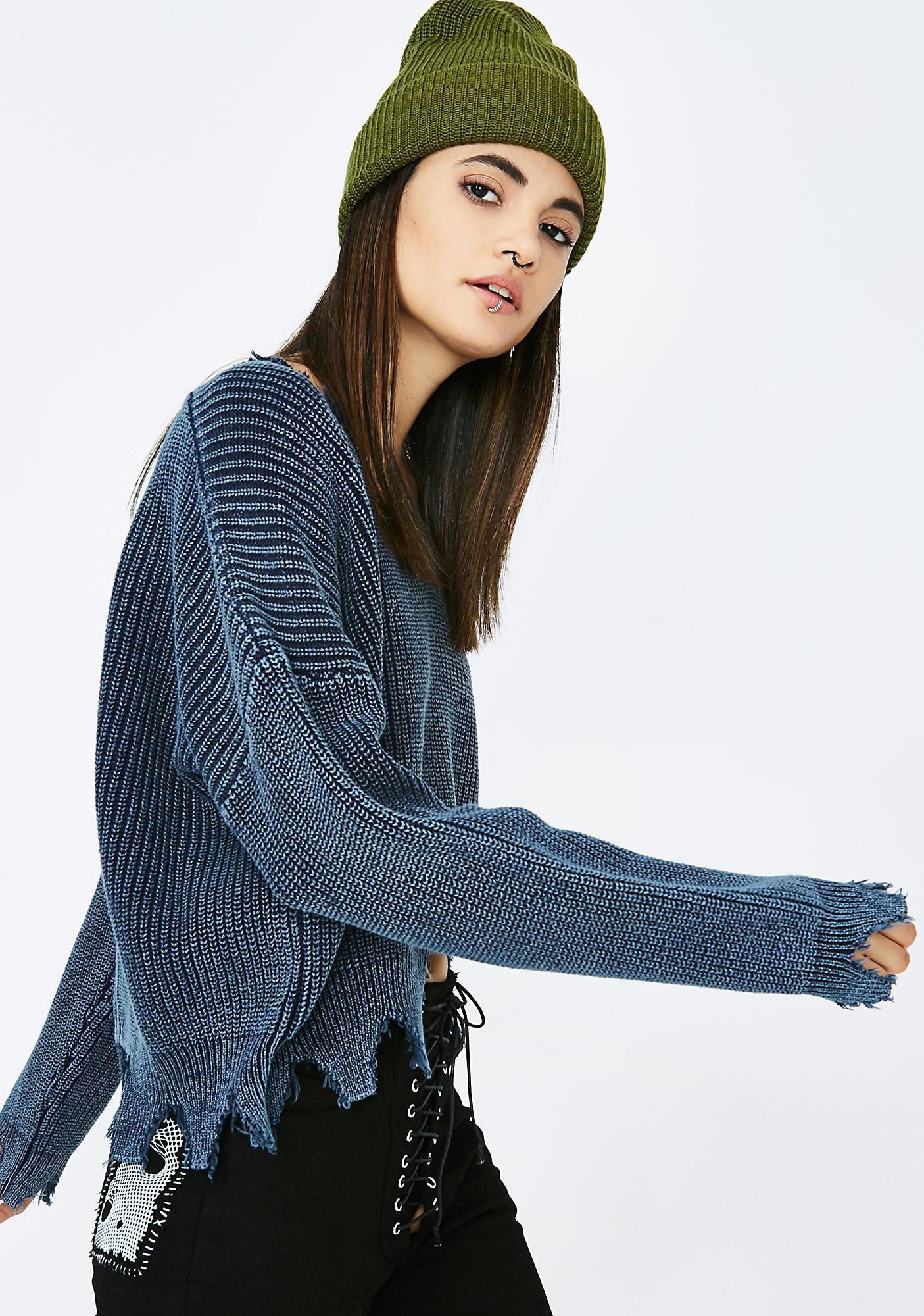 Rough Night Knit Sweater