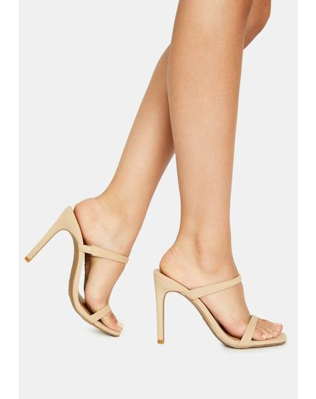 Almond Just Walk Away Strappy Heels