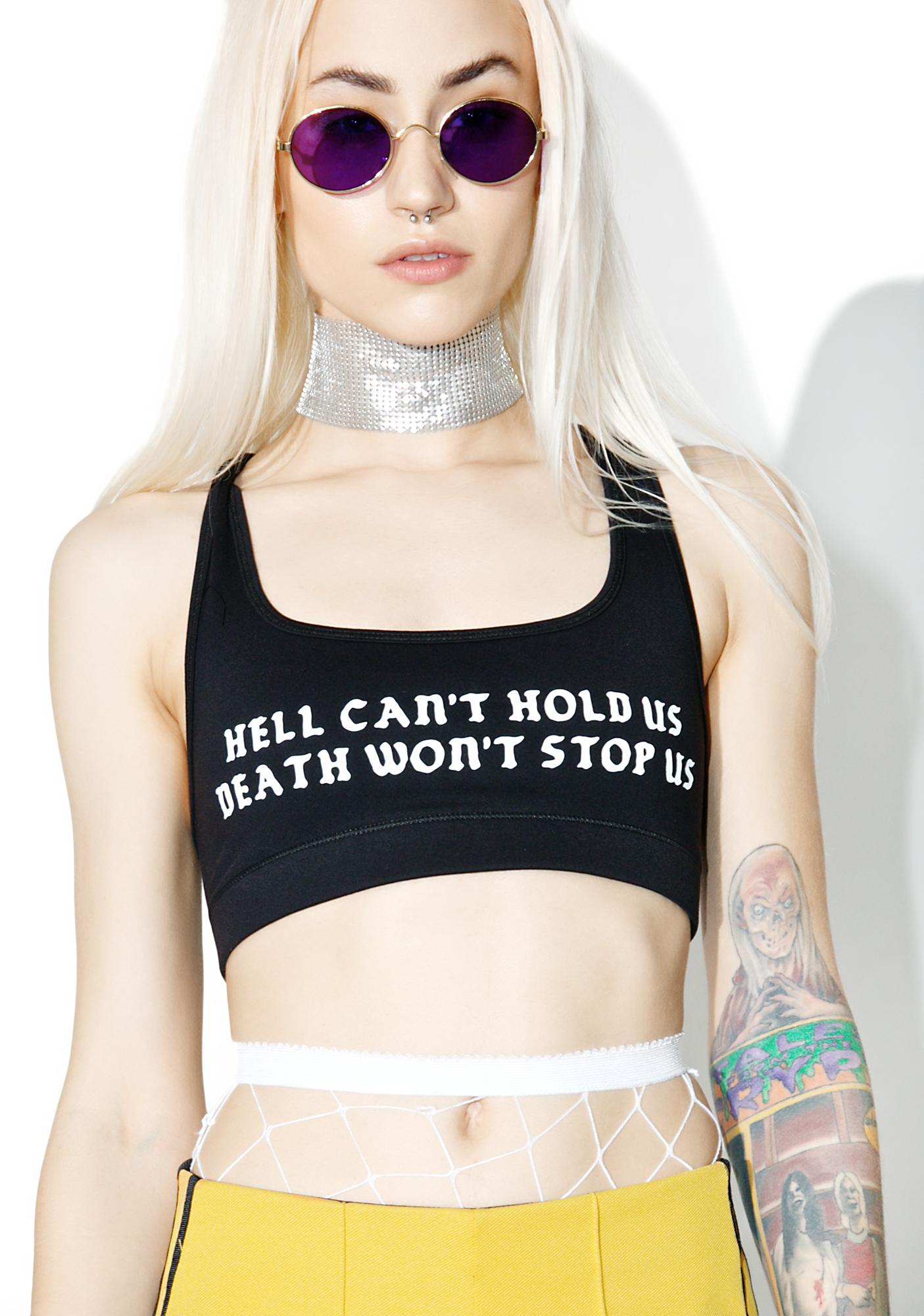 Rebel8 Hell Can't Hold Us Bra Top