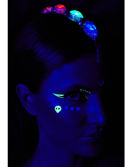 x Georgie Light Up Face And Hair Jewels